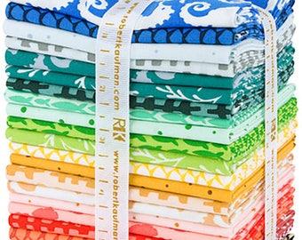 Reef - Elizabeth Hartman - Robert Kaufman - 24 Pieces - Fat Quarter Bundle - 1254-12