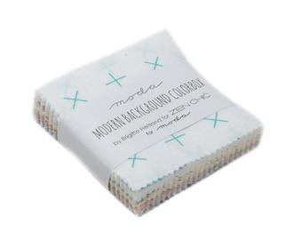 "Modern Background Colorbox - Zen Chic - Brigitte Heitland - Moda - Mini Charm - 2.5"" Squares - 1640MC"