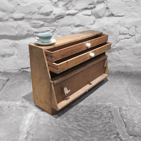 Carpenters Tools Box Trunk Chest Pine Drawers