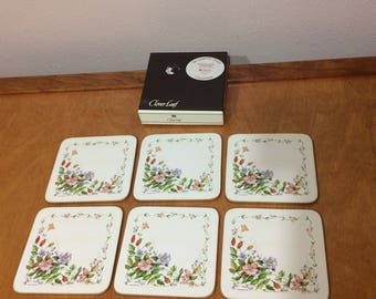 Clover Leaf Traditional Coaster - Country Diary Collection - English Garden - Made in England Set of Six