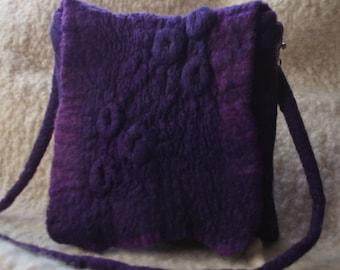 Purple Handbag, Nuno Felt Bag,Wool & Silk Bag, O.o.a.k.