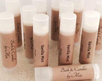 All Natural Paraben Free Lip Balm Vanilla Mint