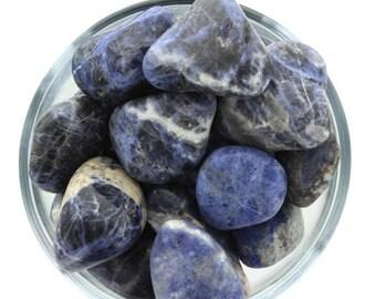 ON SALE Sodalite Blue Light Tumble Stone Larger (3 Pack)