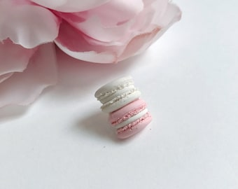 Stacked macaron lapel pin/brooch
