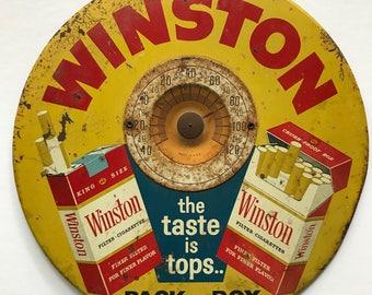 WINSTON cigarette round working thermometer