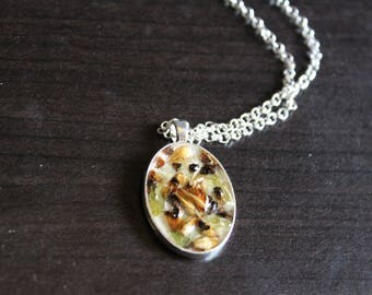 Brewelry: Oval Malt and Hops Necklace