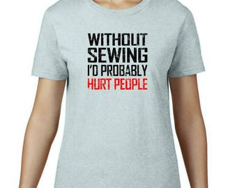 T-shirts for crafters - quilters and knitters (women)