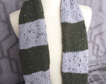 Philadelphia Eagles Scarf, New York Jets scarf, Green and silver scarf