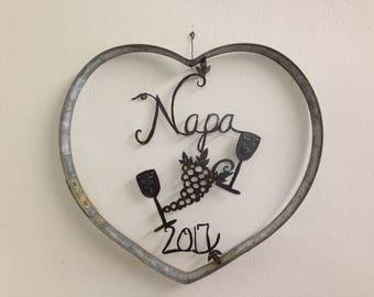 "Barrel ring heart with  "" Napa 2018"""