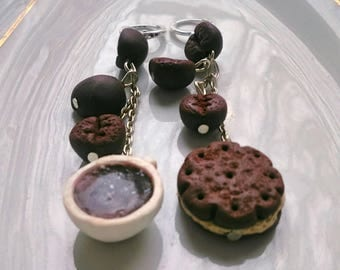Sweet long bakery earrings Food jewelry earrings. Cookies,jewelry handmade jewelry earrings heart shaped cookies jewelry with yummy stuff