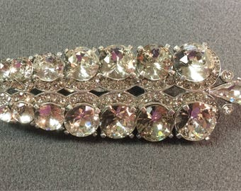 Big Sparkly Signed Cabi Rhinestone Brooch/Clip.  Free shipping