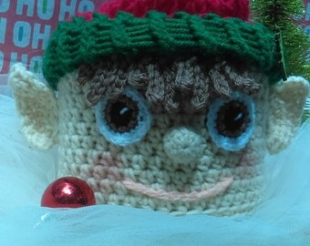 Christmas elf toilet paper cover