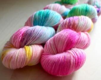 "Doe - ""Unicorn"" - MCN Fingering Weight Yarn - Superwash Merino, Nylon, Cashmere - Sock Yarn"