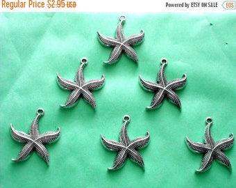 HALF PRICE 6 Starfish Charms - ST2