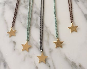 Long necklace with star.