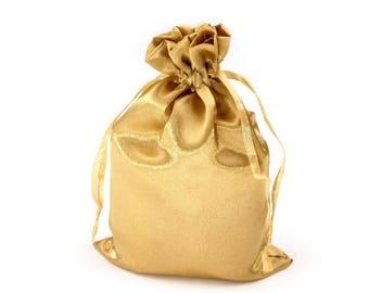 3 bag bag satin 11 x 17 cm gold gilt