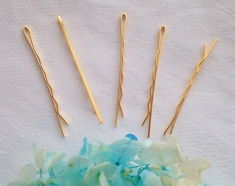 Matte gold finish Bobby pins hairpins 5pcs 5cm