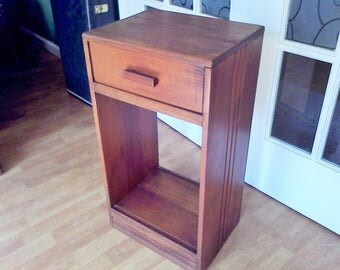 rustic night stand mid century side table wooden night stand