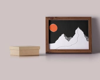 Lonely Mountain Print