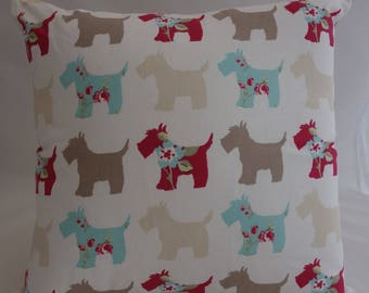 Pillow - Scottie Dogs feature cushion, complete with cushion pad, zip fastening