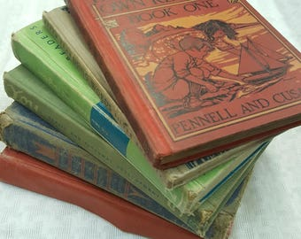 Six Children's Readers and Educational Books from the 1920s to 1950s