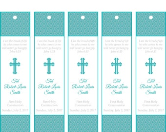 1st Communion Printable Bookmarks DIY