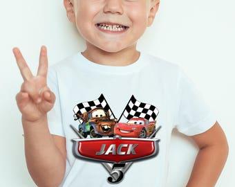 Cars, Birthday Boy, Iron On Transfer, Cars Iron On Transfer, Diy Cars Birthday Shirt, DIGITAL FILE, Birthday Shirt, Cars 3