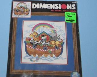 SALE Dimensions 39012 Noah's Voyage  12 x 12  Designed By Leesa Whitten No Count Cross Stitch