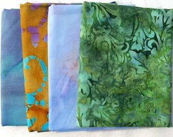 Fat quarters 100% cotton batik fabric