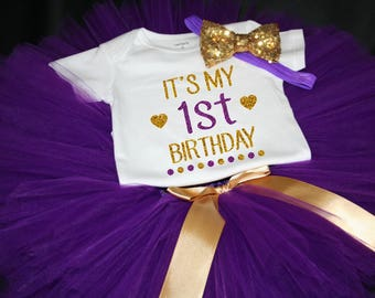 First Birthday Outfit, Girls Birthday Tutu, First Birthday Girl Outfit, Birthday Tutu, 1st Birthday Tutu Set, 1st Birthday Tutu, Cake Smash