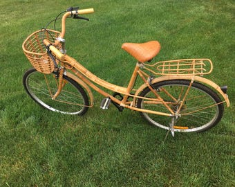 Vintage Bamboo, Rattan and Wicker Bike
