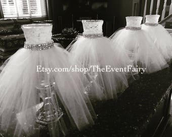 Black vase couture centerpiece Wedding dress vase