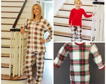 Christmas Pajama's Pre-Sale Until September 1, Pre-Order Christmas Pajamas, Christmas Plaid, White Christmas Plaid, Family Christmas Pajamas