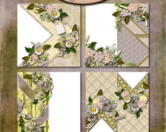 Scrapbooking Digital: Quick Page Set, Inner Calm Set 2