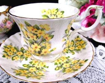 Royal Albert Tea Cup and Saucer Springtimer Series Primrose Pattern Teacup