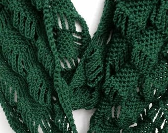 ON SALE Scarf Infinity Cowl - Scarves for Women, Crochet Scarf,(As Seen on Stephanie Drapeau), Gifts for Her, Handmade Scarf, Circle Scarf