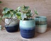 Handmade stoneware small planters. Handmade by Holly Bell Ceramics