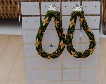 African hoop earrings, afro earrings, ankara earrings, afro jewellery, african fabric hoop earrings, afro jewelry