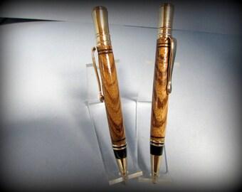 Handmade pen and pencil set - Executive style