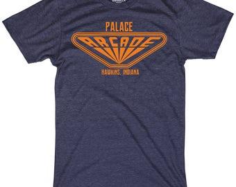 Palace Arcade shirt funny hawkins indiana arcade shirt max funny retro gaming 80s shirts