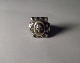 Mexican Biker Skull Ring Vintage Type Size 11