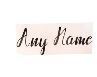 Vinyl decal Any Name. Weddings / Hen Parties for Wine Glasses / Customised