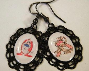 Ren & Stimpy earrings