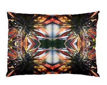 Standard Pillow Case: Ganja Pillow Case in Blue Mountain Lion Marijuana Print, Bed Pillow Case, Cannabis Pillow Case- MADE TO ORDER