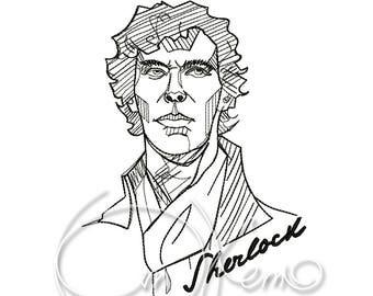 MACHINE EMBROIDERY DESIGN - Sherlock