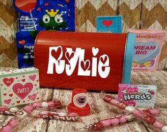Valentine Mailbox, Kids Valentine Gift, Classroom gift, Valentine's Day Child Valentine, Valentine Box