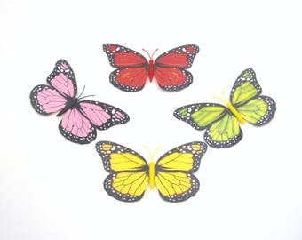 12 Pcs Clip on Butterfly,Fake Artificial Monarch Butterfly,Christmas decor,Home Party Tree Garden Plant decoration,Flower Arrangements