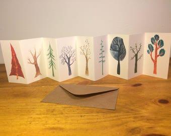 Mini Tree Concertina Book