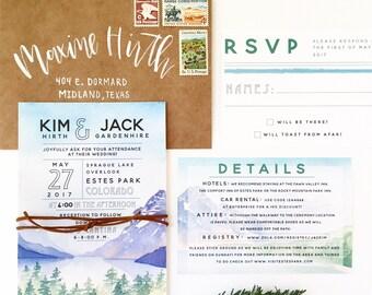 The Colorado Invitation - Colorado wedding, Montana wedding, Rocky Mountain wedding