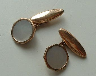Art deco rolled gold cufflinks by Lambournes